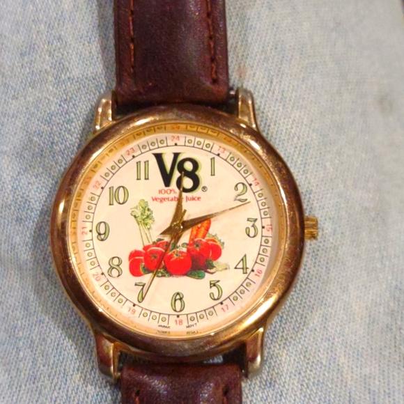 vintage rare V8 vegetables wrist watch